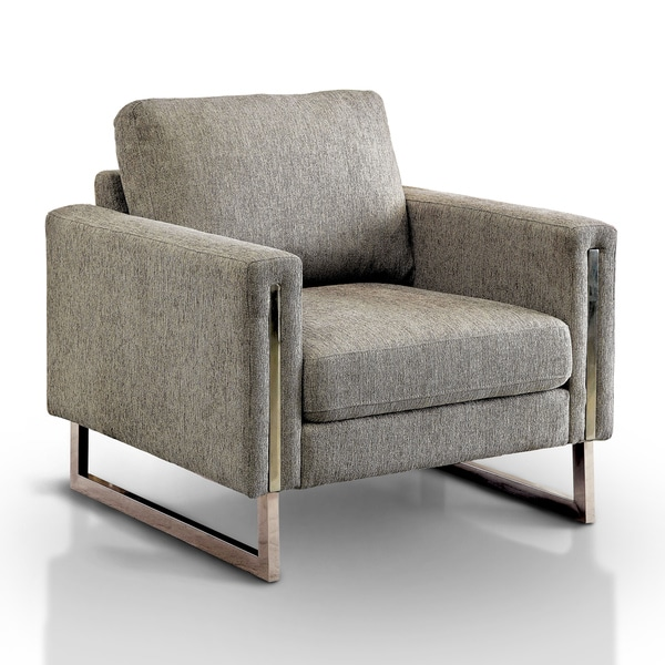 Madrid Taupe Beige Ultra Modern Living Room Furniture 3: Shop Furniture Of America Madrid Contemporary Pewter