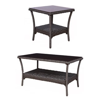 Somette Tortuga Wicker Coffee and Table Set