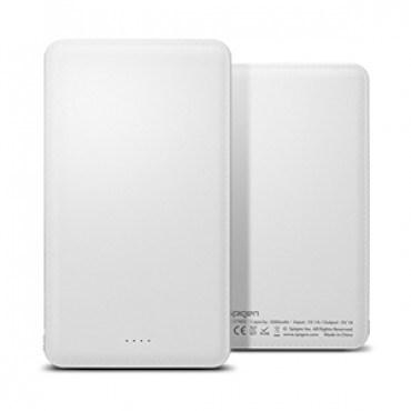 Spigen White 5000mAh Dual Charging Portable Battery