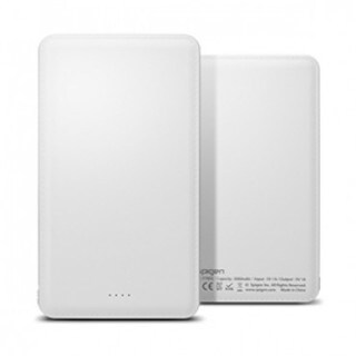 Spigen White 5000mAh Dual Charging Portable Battery