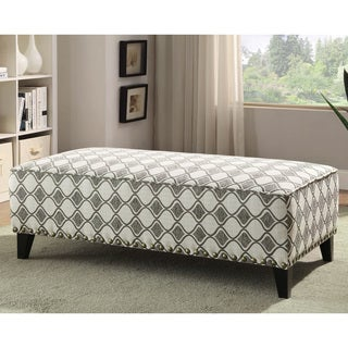 Furniture of America Luxden Contemporary Ogee Patterned Ottoman