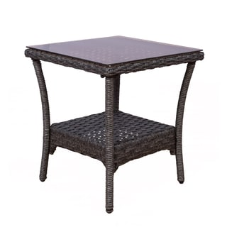 Somette Tortuga Wicker End Table Set