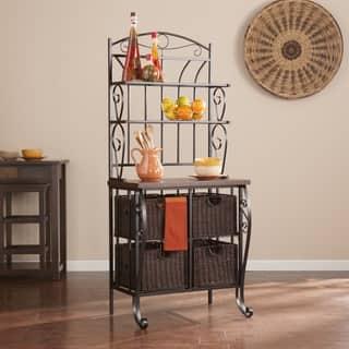 Harper Blvd Drexell Baker's Rack and Storage Baskets|https://ak1.ostkcdn.com/images/products/12636809/P19428306.jpg?impolicy=medium