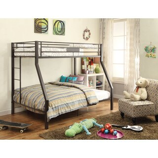 Limbra Twin over Full Metal Bunk Bed, Brown