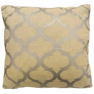 Artistic Linen Gold/Silver Polyester Metallic Printed Decorative Throw Pillow