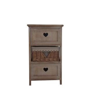Urban Port Antique-finished Wood 2-drawer Cabinet