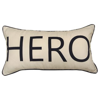 Hero by Artistic Linen Hero Worded Decorative Throw Pillow