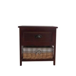 Benzara Urban Port Brown Wood Contemporary Cabinet