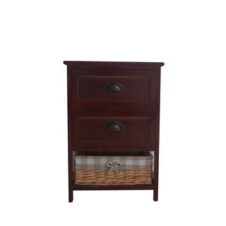 Benzara Urban Port Dark Brown Wood Cabinet