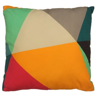 Artistic Linen Color Block Multicolored Cotton-canvas Printed Design Decorative Throw Pillow