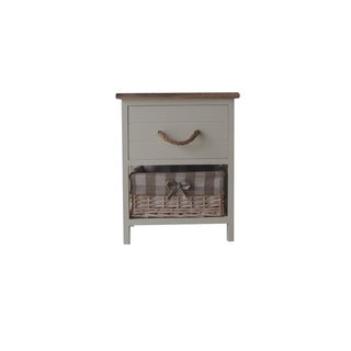 Urban Port Wood Single-drawer Cabinet
