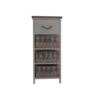 Backed Brown and Chic White Cabinet by Urban Port