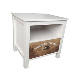 Urban Port White MDF Multipurpose 1-drawer Cabinet