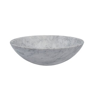 Novatto White Carrera Marble Stone Vessel Sink
