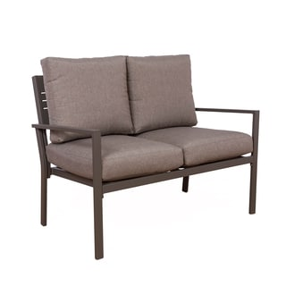 Somette Kaufmann Aluminum Double Loveseat