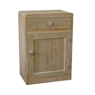 Benzara Urban Port Natural-finished Wood End Cabinet