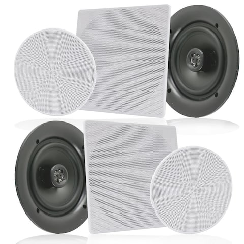 Pyle PDIC16106 White 10-inch 300-watt Dual In-wall/In-ceiling 2-way Flush-mount Home Speakers