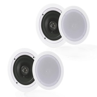 Pyle White ABS In-Wall / In-Ceiling Flush Mount Speakers