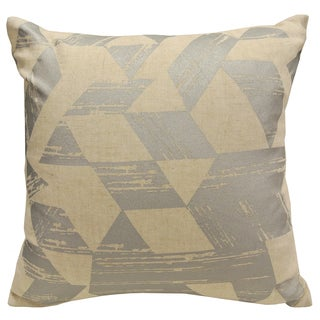 Geo Metallic by Artistic Linen Gold/Silver Linen/Polyester Printed Geometric Decorative Throw Pillow