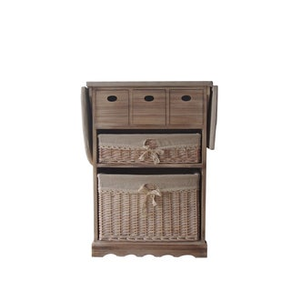 Urban Port Antiqued Wood Cabinet With Ironing Board