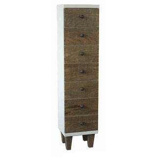 Urban Port White/Brown Wooden Wall-mount Cabinet
