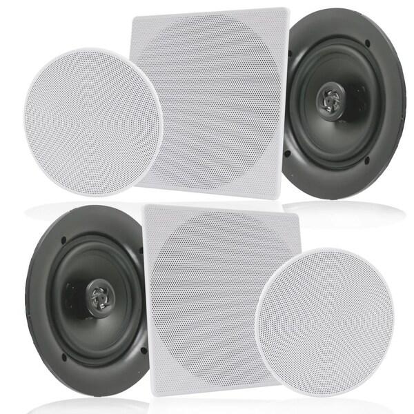 Shop Pyle PDIC1656 White 5.25-inch 150-watt Dual In-wall