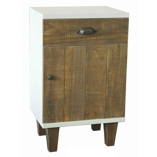 Benzara Urban Port White/Brown Cabinet