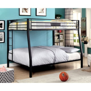 Furniture of America Tic Contemporary Black Metal 2-tier Bunk Bed