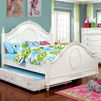 Furniture of America Margie Traditional Elegant Fairy Tale Style Floral Poster Bed