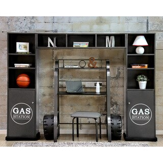 Furniture of America Born Racer 3-piece Metal Storage Cabinet and Shelf Set