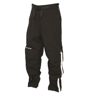 Frogg Toggs Pilot Frogg Black Waterproof Road Pants with Reflective Stripes