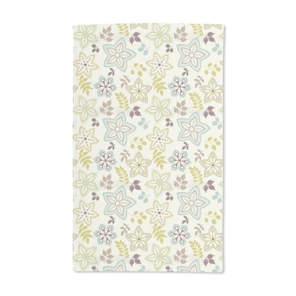 Leaf and Flower Are Harbingers of Spring Hand Towel (Set of 2)