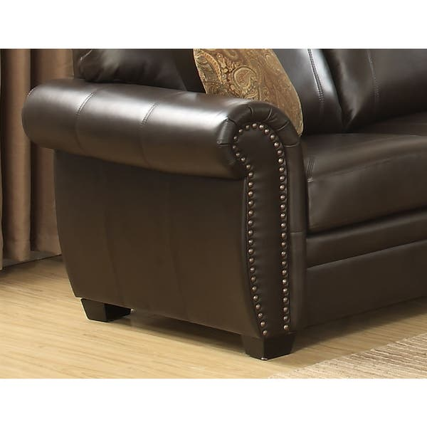 Surprising Shop Louis 3 Piece Brown Traditional Stationary Living Room Dailytribune Chair Design For Home Dailytribuneorg