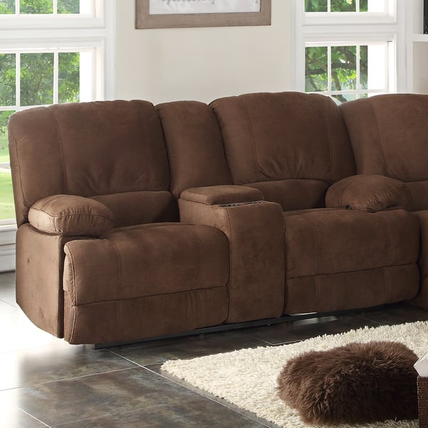 Groovy Shop Kevin Brown Reclining Loveseat With Console N A Creativecarmelina Interior Chair Design Creativecarmelinacom