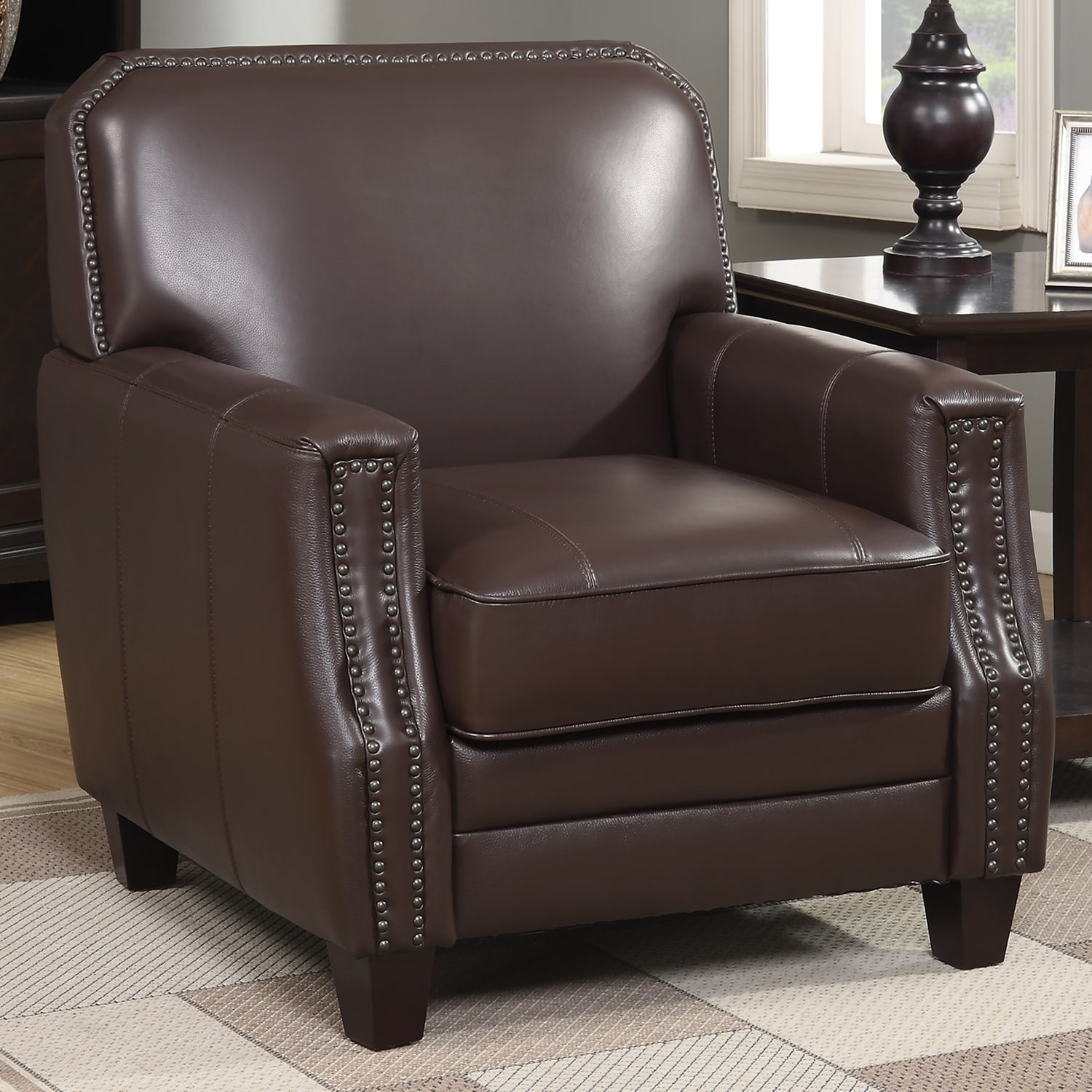 Full-grain-Leather-Club-Arm-Chair thumbnail 8
