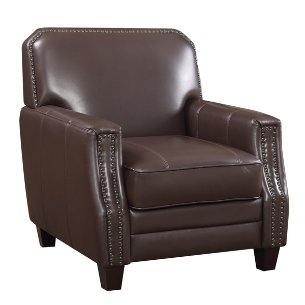 Full Grain Leather Club Arm Chair Free Shipping Today 19428766