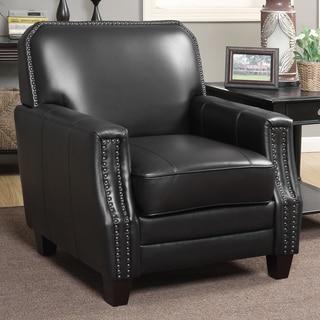 Full-grain Leather Club Arm Chair