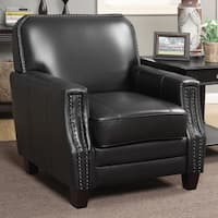 Full-grain Leather Club Arm Chair