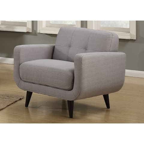 AC Pacific Crystal Grey Polyester Mid-century Armchair
