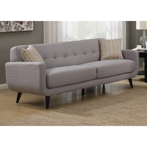 Crystal Mid-Century Modern Grey Sofa