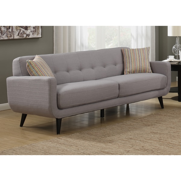 Crystal Mid Century Modern Grey Sofa