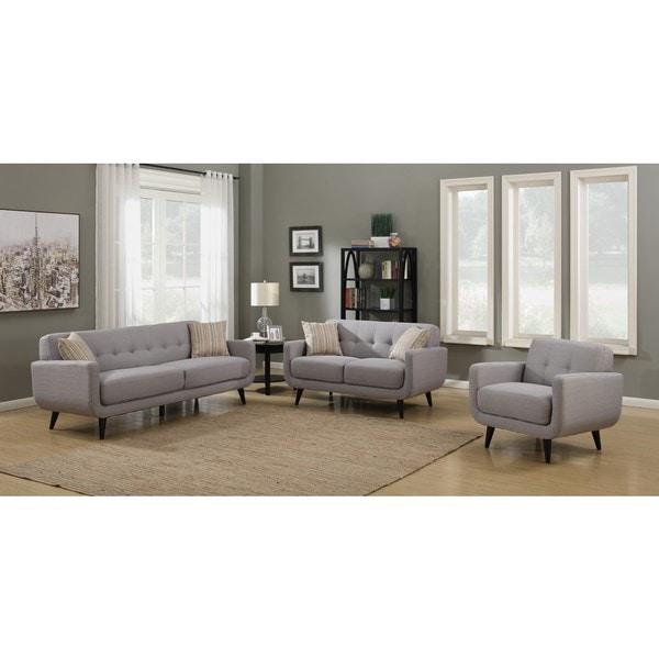 Shop Crystal Grey 3-Piece Living Room Sofa Set