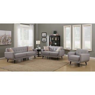 Crystal Grey 3-Piece Living Room Sofa Set