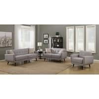 Crystal Grey 3-Piece Living Room Sofa Set