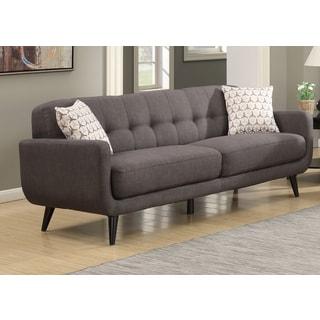 Crystal Mid-Century Modern Charcoal Sofa