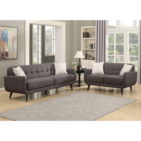 Carson Carrington Stykkisholmur Charcoal 2-piece Sofa and Loveseat Living Room Set