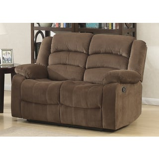 Bill Contemporary Brown Reclining Loveseat