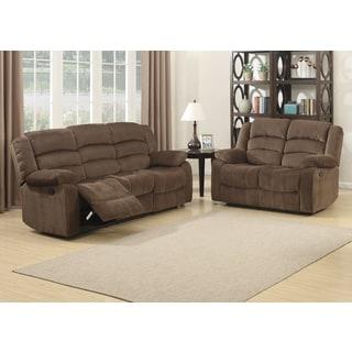 Bill 2-piece Contemporary Brown Reclining Living Room Set