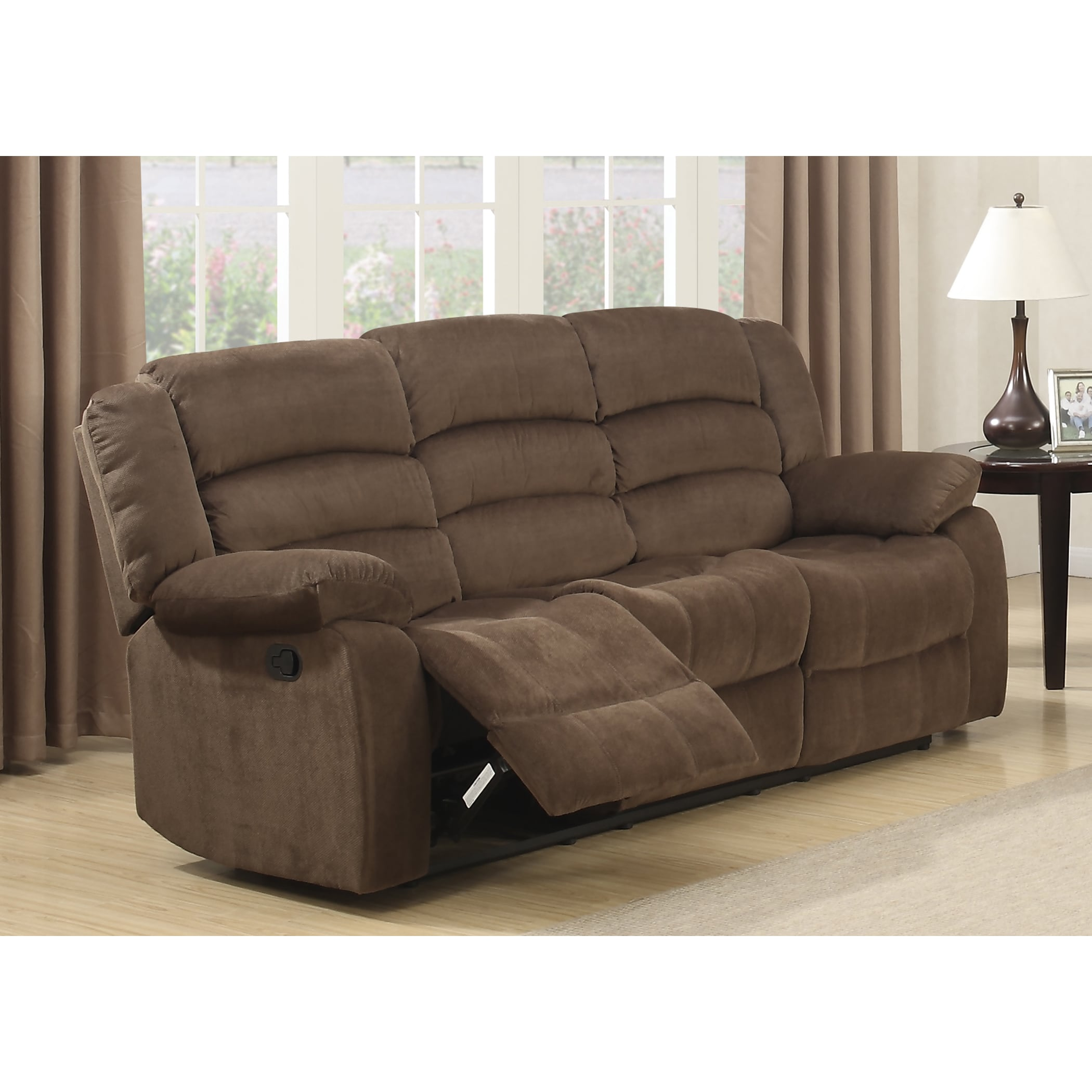 AC Pacific Bill Brown Contemporary Living Room Reclining ...