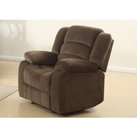 anthony collection medium brown microfiber recliner by nathaniel